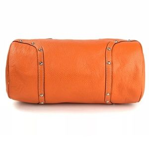 Burberry Bags - ✨ Burberry Orange Pebbled Leather Barrel Satchel 5d49c9e5813c6